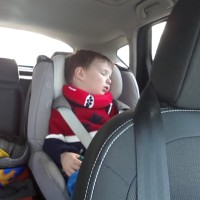 sleeping toddler with trunki yondi neckrest