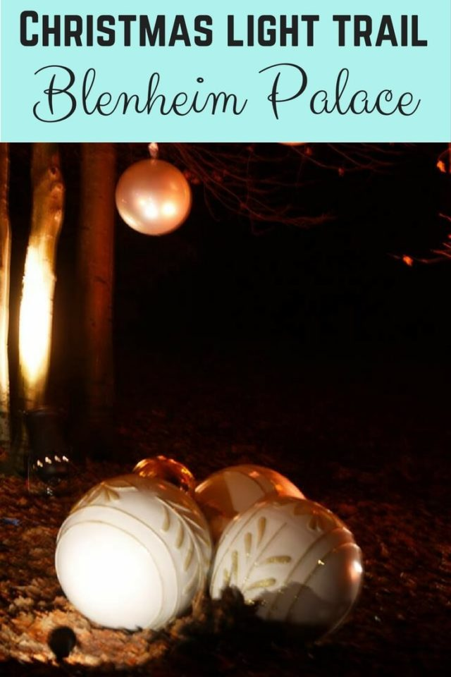 Tips to enjoy the Blenheim Palace Christmas light trail - Bubbablue and me