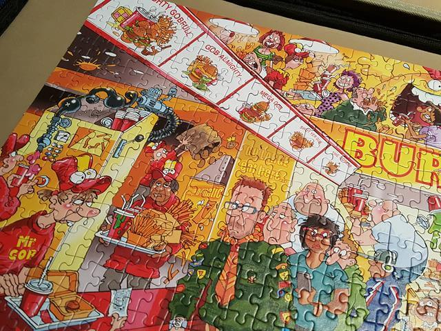 Wasgij Solution For Fast Food Frenzy Jigsaw Puzzle